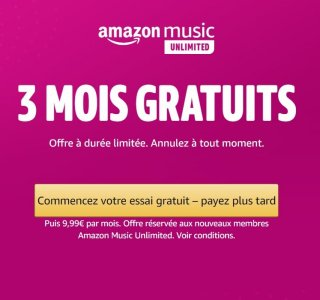 Amazon Music Unlimited : le service de streaming musical est gratuit pendant 3 mois