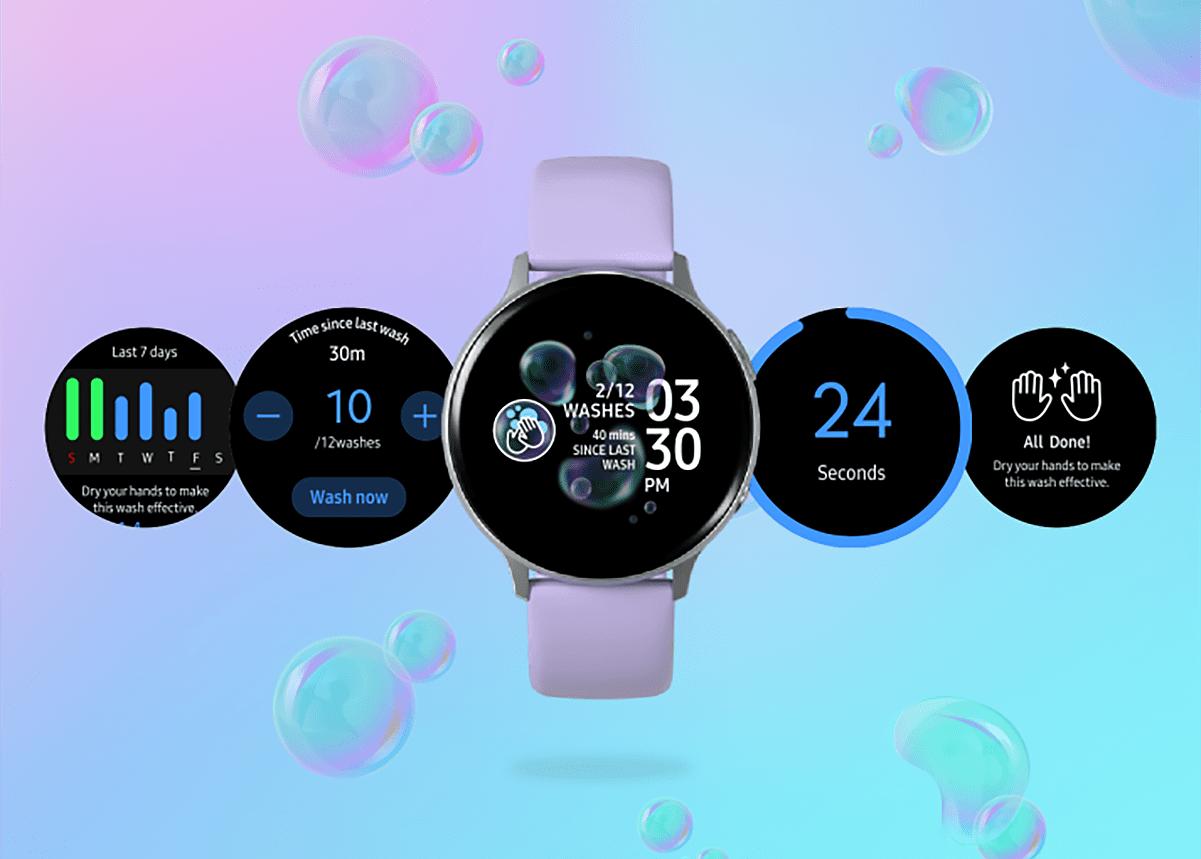 Les montres Samsung vous aident à vous laver les mains pendant l'épidémie