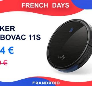 Le moins cher des robots aspirateurs pendant les French Days est à 134 €