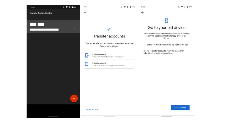 Google Authenticator: enfin une mise à jour qui apporte la sauvegarde de vos comptes