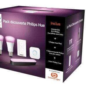 Philips Hue : belle réduction sur un kit de démarrage 2 ampoules + Hue Play