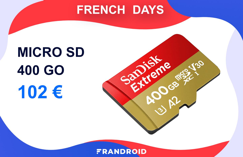La microSD SanDisk Extreme 400 Go est à un prix intéressant pour filmer en 4K
