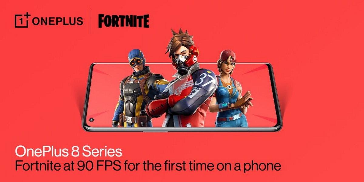 Fortnite passe à 90 FPS sur les OnePlus 8 et OnePlus 8 Pro