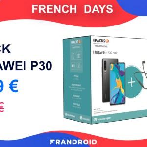 Ce pack du Huawei P30 est à moitié prix pendant les French Days