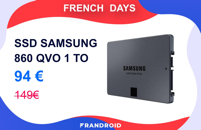 Le SSD Samsung 860 QVO 1 To a attendu les French Days pour revenir à moins de 100 €