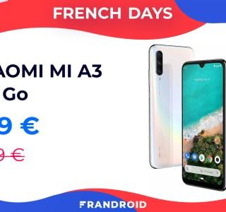 Profitez d'Android One avec le Xiaomi Mi A3 à moins de 200 euros pour les French Days