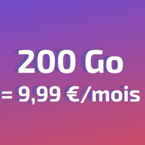 Derniers jours pour ce forfait mobile 200 Go à moins de 10 euros par mois