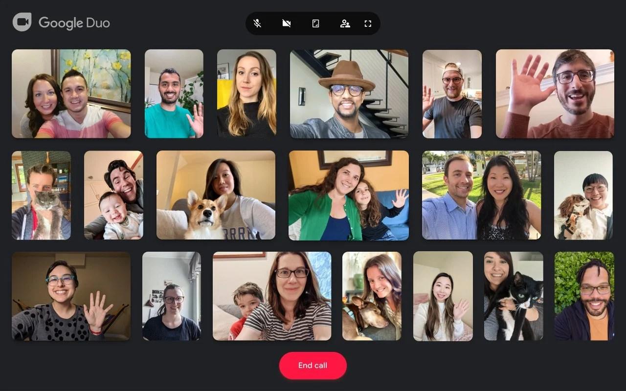 Google Duo lance les appels à 32personnes sur Chrome