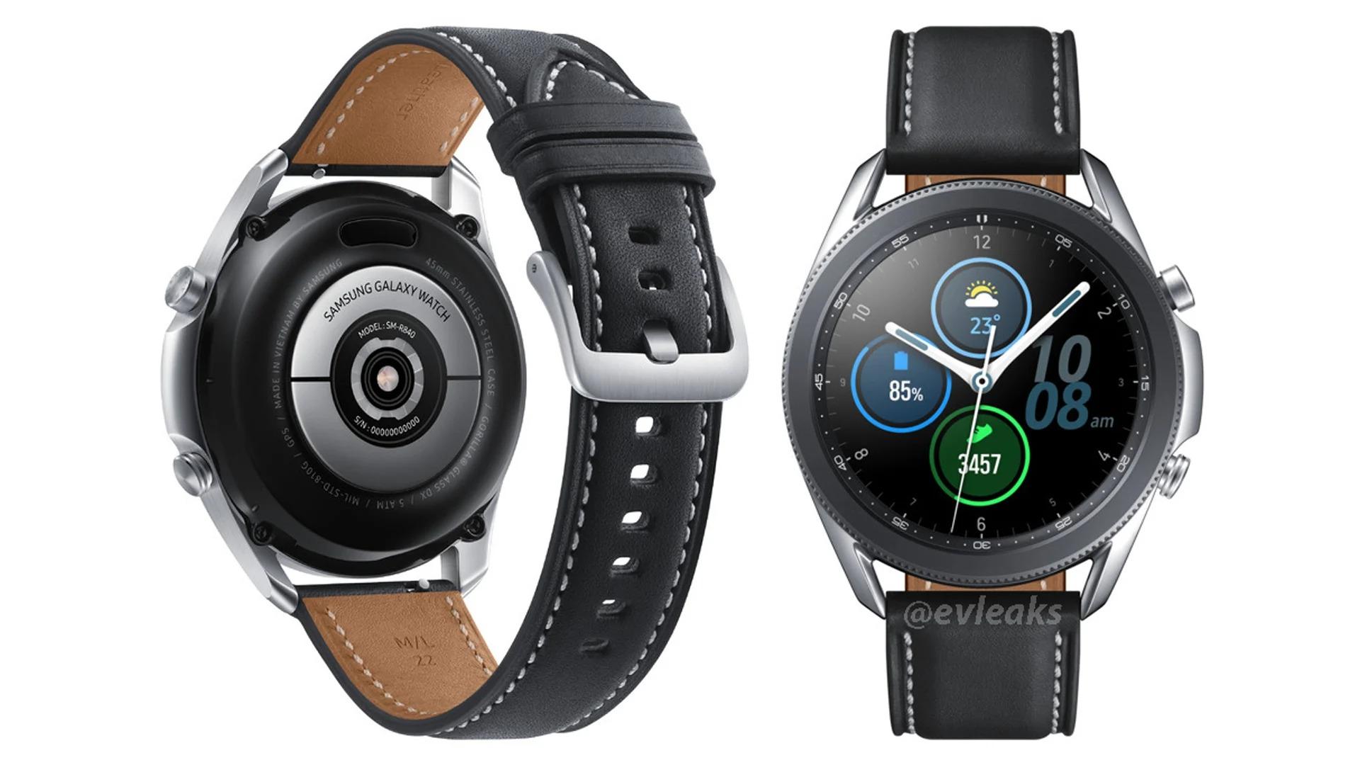 Galaxy Watch 3: voici le premier rendu presse de la future montre de Samsung