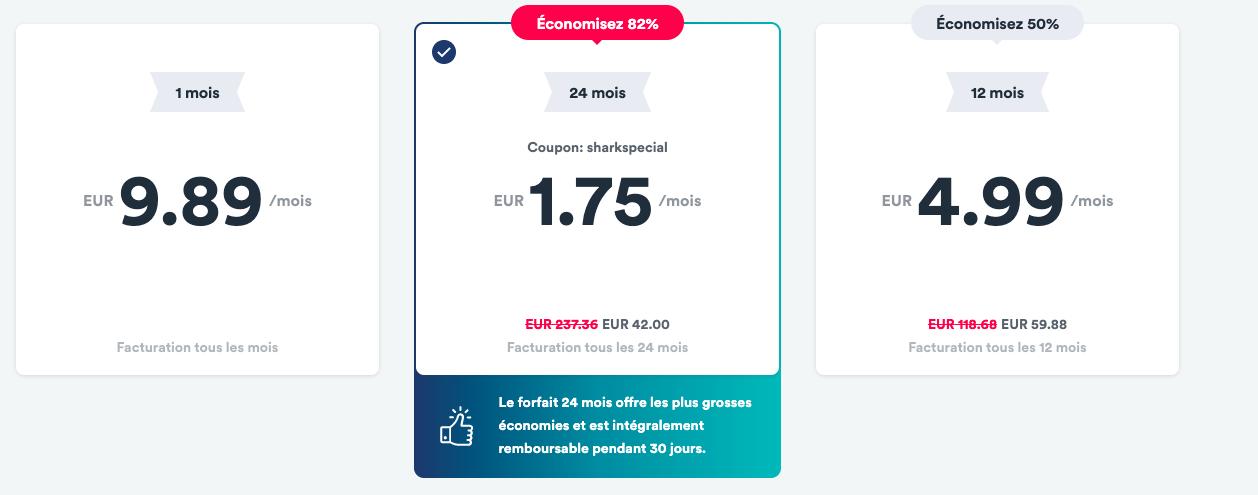 Surfshark lance une offre VPN imbattable : 2 ans à 42 euros, soit 1,75 €/mois
