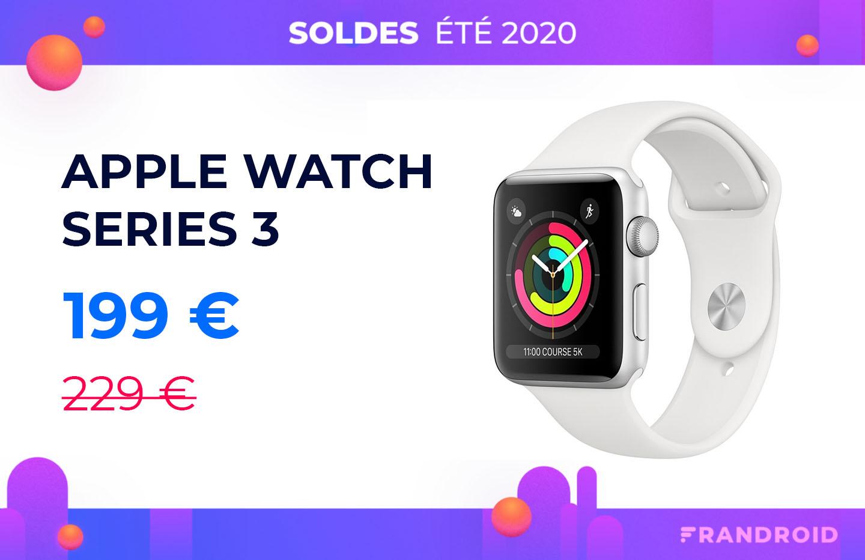 Voici une Apple Watch à moins de 200 euros pour les soldes d'été 2020
