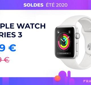 L'Apple Watch 3 est à moins de 200 euros pour les soldes d'été 2020