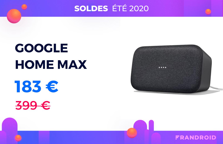 Google Home Max : le prix de cette grosse enceinte n'est jamais tombé aussi bas