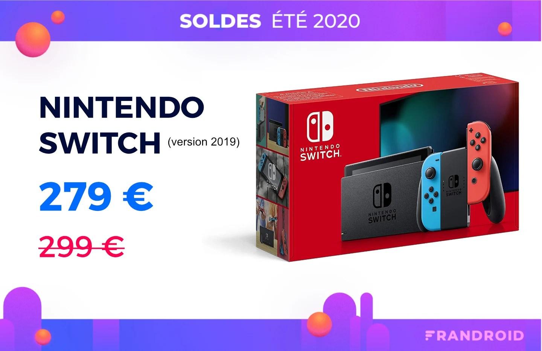 La Nintendo Switch revient enfin à prix réduit pour les soldes d'été 2020