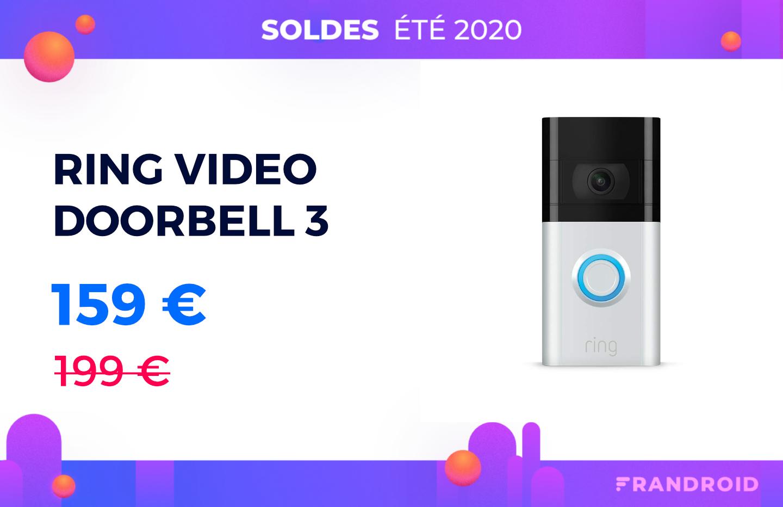 Enfin une baisse de prix pour la sonnette connectée Ring Video Doorbell 3