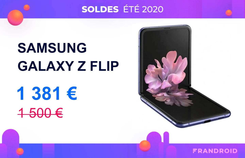 Samsung Galaxy Z Flip : le smartphone pliable baisse son prix pour les soldes