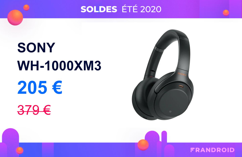 À saisir, l'excellent Sony WH-1000XM3 est à presque 200 euros pour les soldes