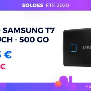 Le SSD Samsung T7 Touch avec capteur d'empreintes est à prix réduit