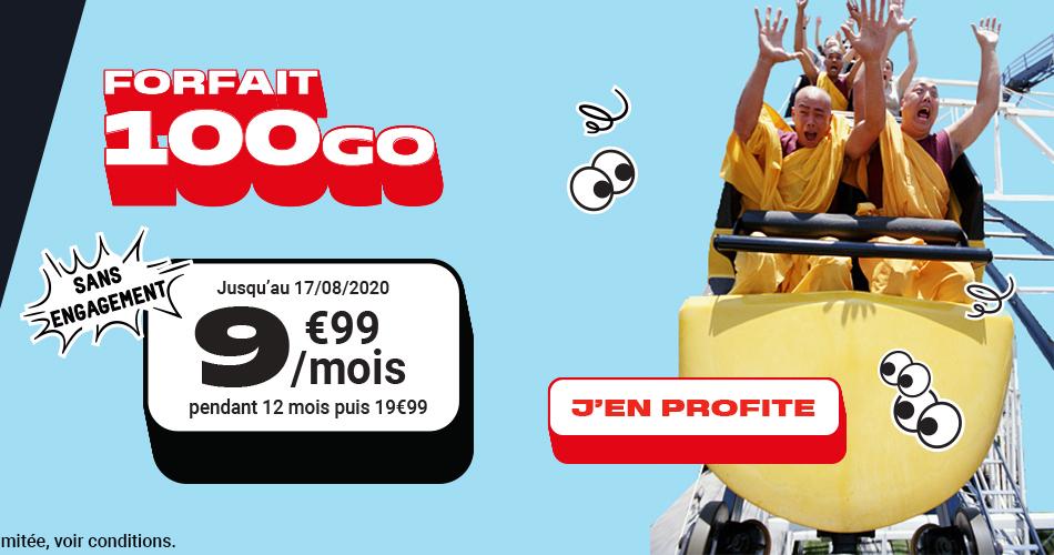 Ce forfait mobile 100 Go passe à moins de 10 euros par mois