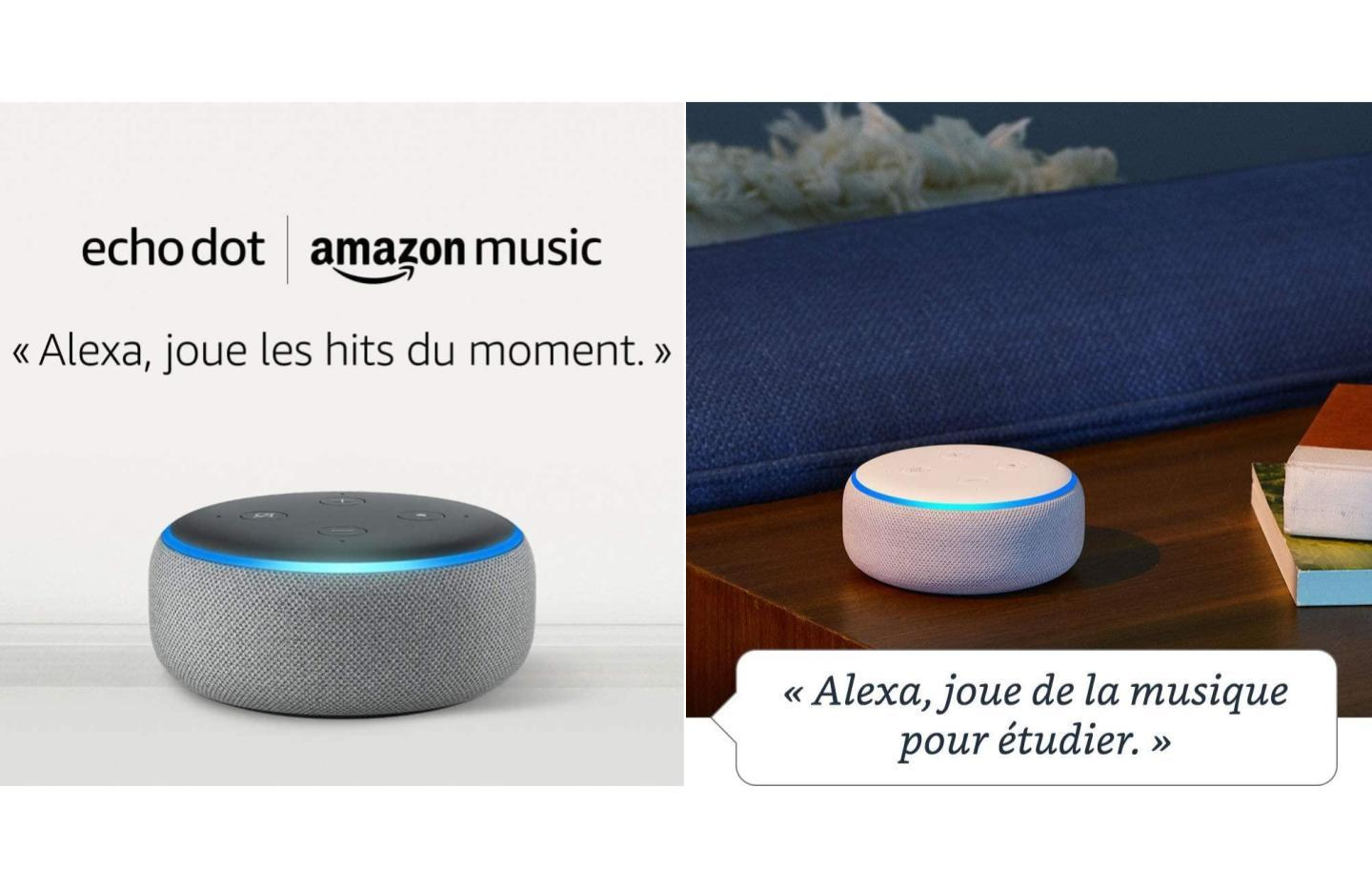 Pour 19 €, offrez-vous l'Amazon Echo Dot avec 1 mois de musiques illimités