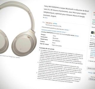 Sony WH-1000XM4 : le casque disponible sur Amazon France avant même sa présentation