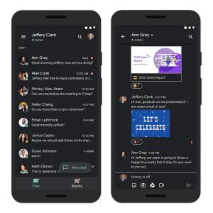 Google Chat : les entreprises vont enfin profiter d'un thème sombre sur Android et iOS