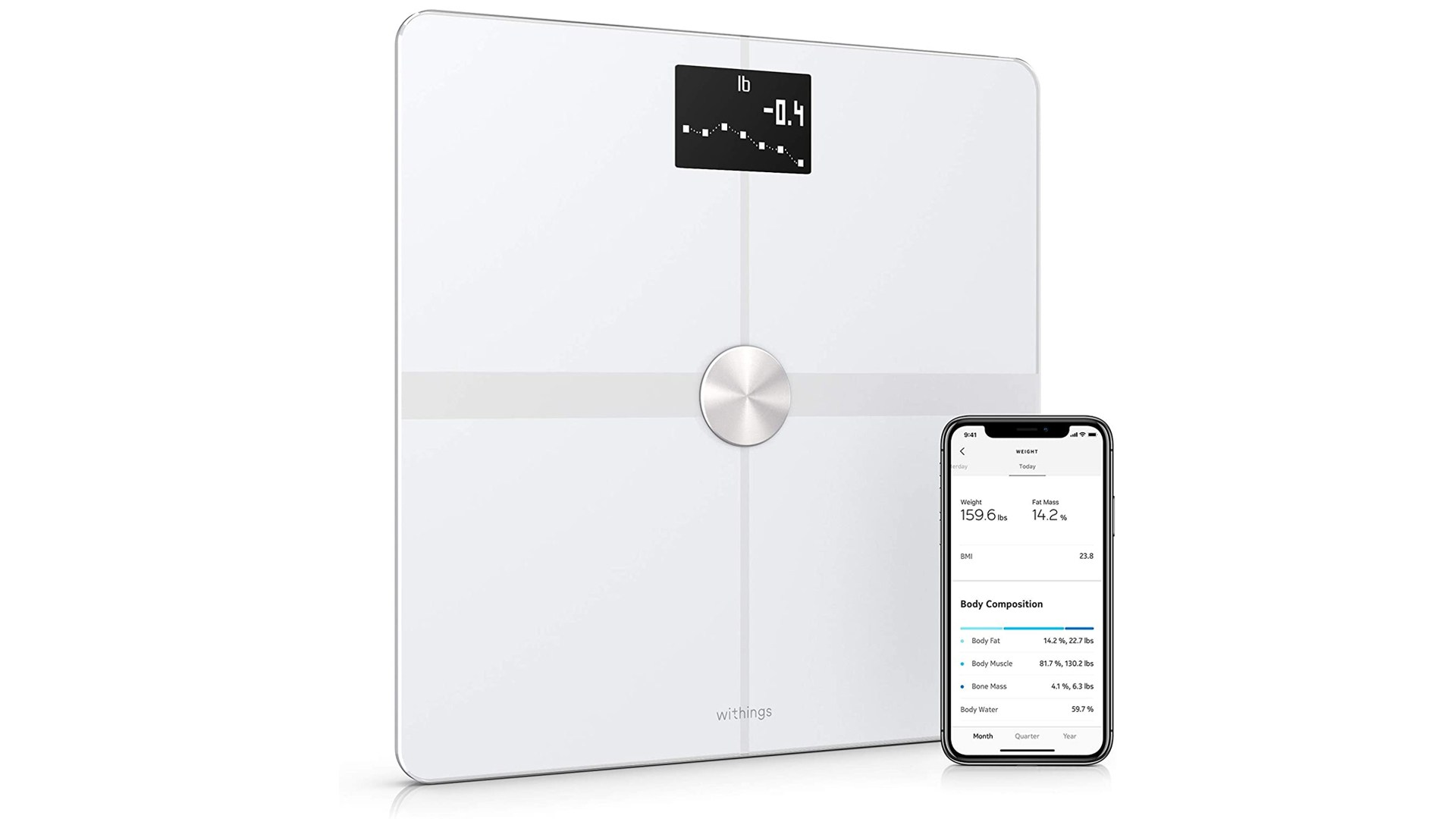 20 euros de réduction sur la balance connectée Withings Body+