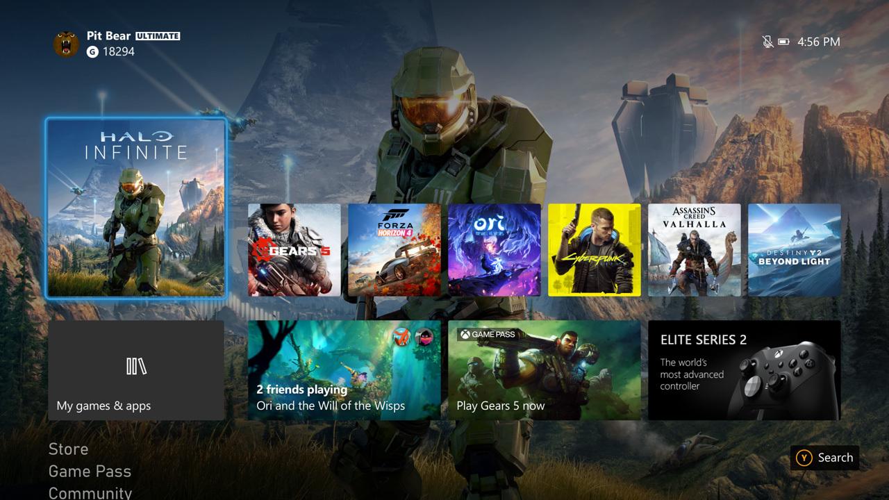 Xbox One : la nouvelle interface de la Series X est disponible dès maintenant