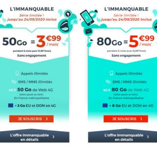 50Go à 3,99€ ou 80Go à 5,99€: quel forfait mobile à petit prix choisir?