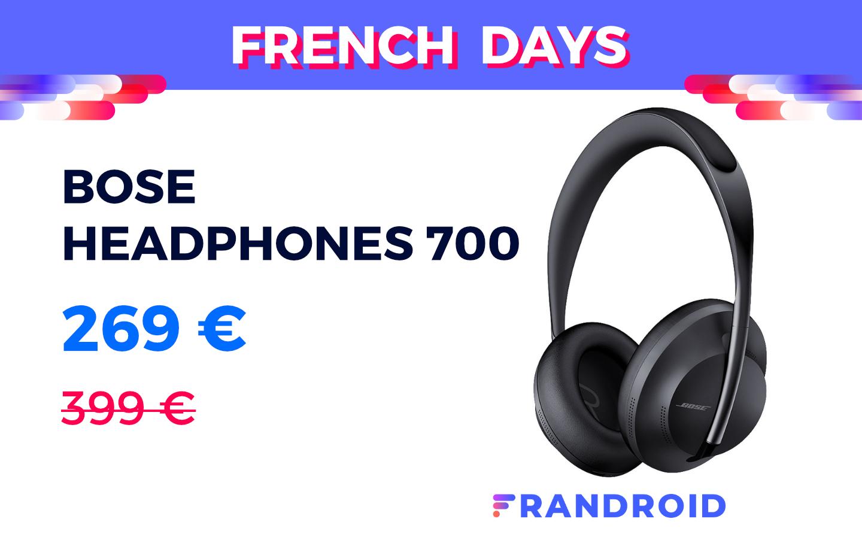Cdiscount vend l'excellent Bose Headphones 700 à 269 € pour les French Days