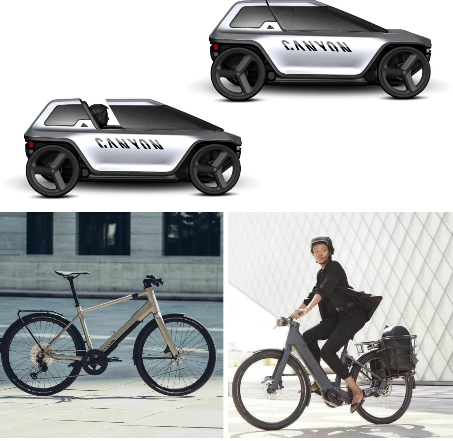 Canyon : deux nouveaux vélos électriques de ville et un étonnant quadricycle branché à pédales
