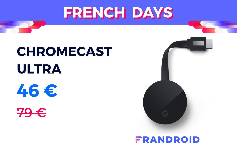 Le Chromecast Ultra de Google est bradé à moins de 50 € sur Cdiscount