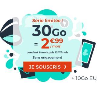 Ce forfait mobile à 3€ ne néglige pas l'Europe/DOM grâce à ses 10Go de 4G