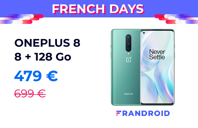 Le OnePlus 8 est à moins de 480 euros pour les French Days
