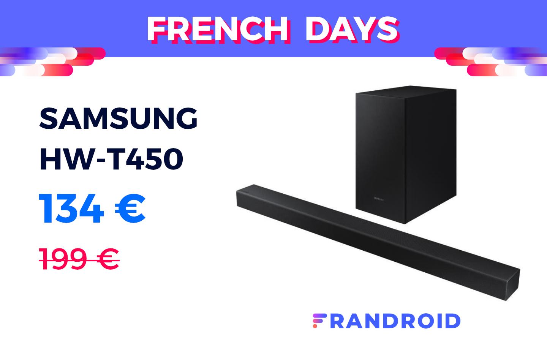 Une barre de son abordable pour les French Days avec la Samsung HW-T450 à 134 €