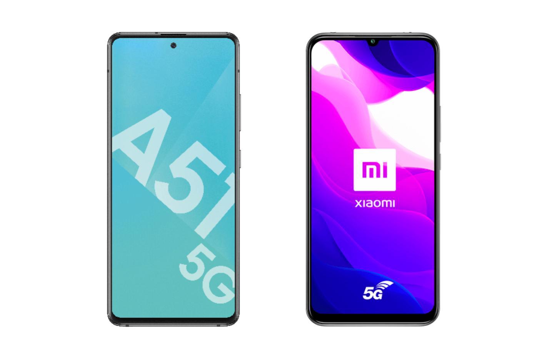 Xiaomi Mi 10 Lite ou Samsung Galaxy A51 : quel smartphone 5G en promo choisir ?