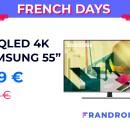 La récente TV 4K QLED 55″ de Samsung est à moins de 800 € pour les French Days