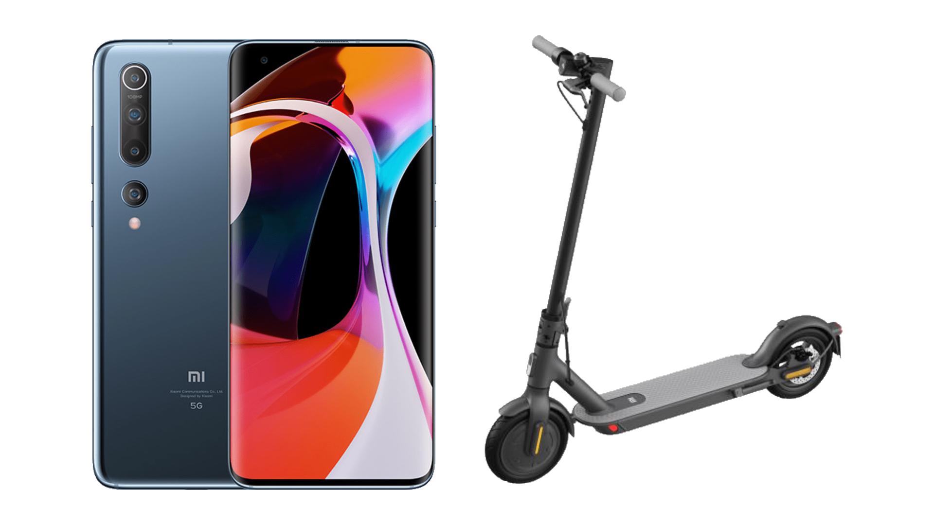 Pour 750 euros, ce pack Xiaomi Mi 10 + Mi Scooter Essential est très intéressant