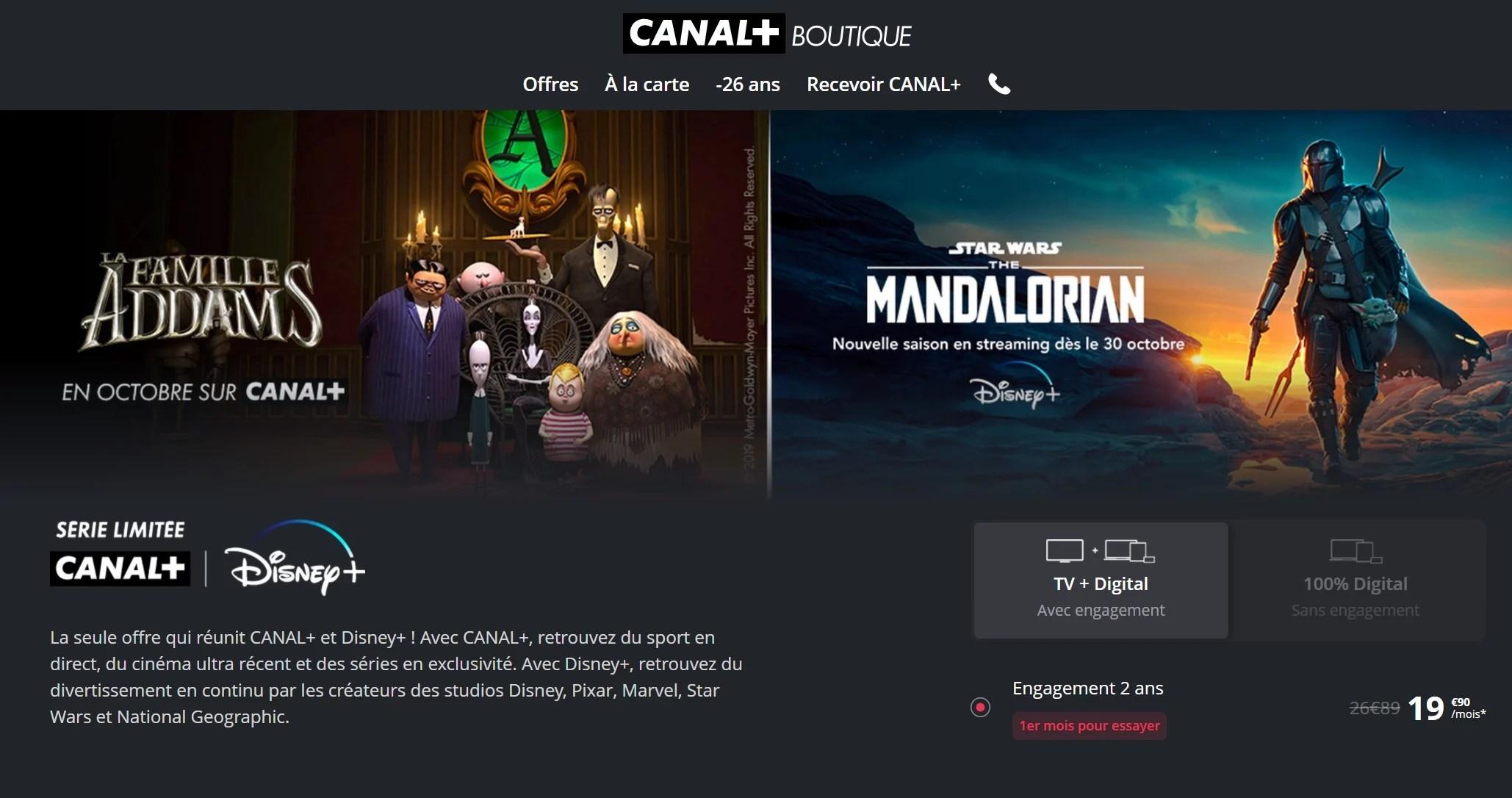 Canal+ lance une nouvelle offre en série limitée avec Disney+