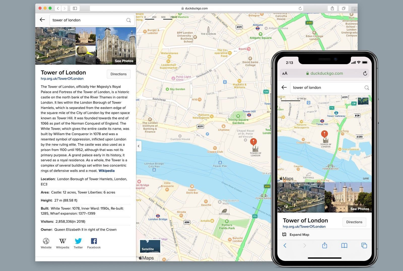 DuckDuckGo rend accessible Apple Plans pour les utilisateurs Android