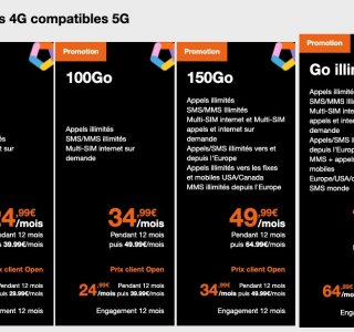 Orange officialise ses nouveaux forfaits mobiles 5G, dont un illimité