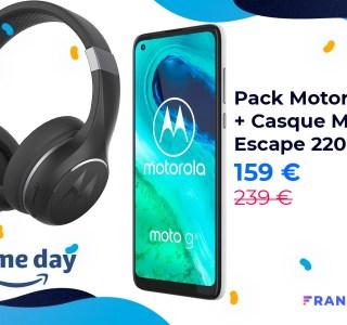 Motorola G8 : un pack à 159 € inclut un casque sans fil offert pour le Prime Day