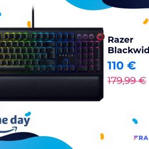 Le clavier Razer Blackwidow Elite passe de 179 à 110 € pour le Prime Day