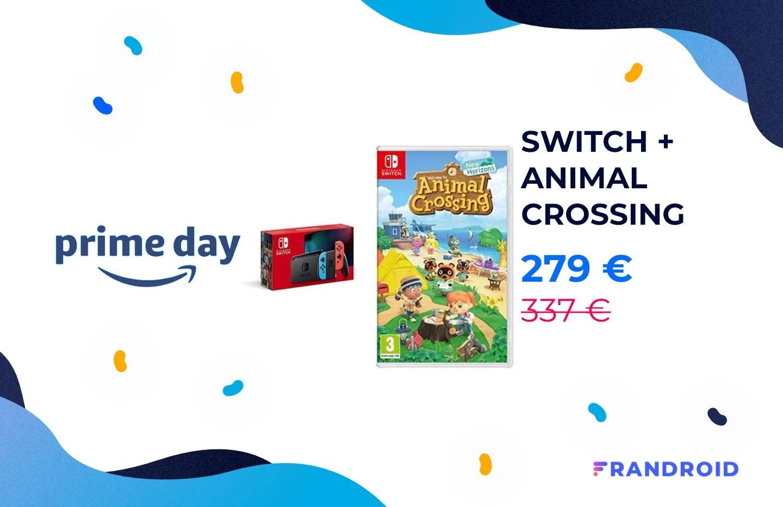 Le pack Nintendo Switch + Animal Crossing est à 279 € pour le Prime Day