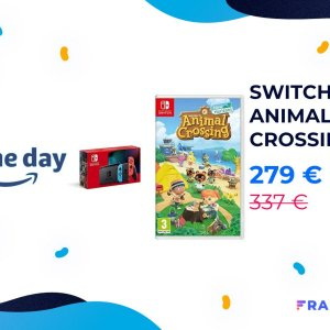 Le pack Nintendo Switch + Animal Crossing est à 279 € pour le Prime Day