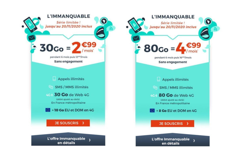 30 Go à 2,99 € ou 80 Go à 4,99 € : quel forfait mobile en promo choisir ?