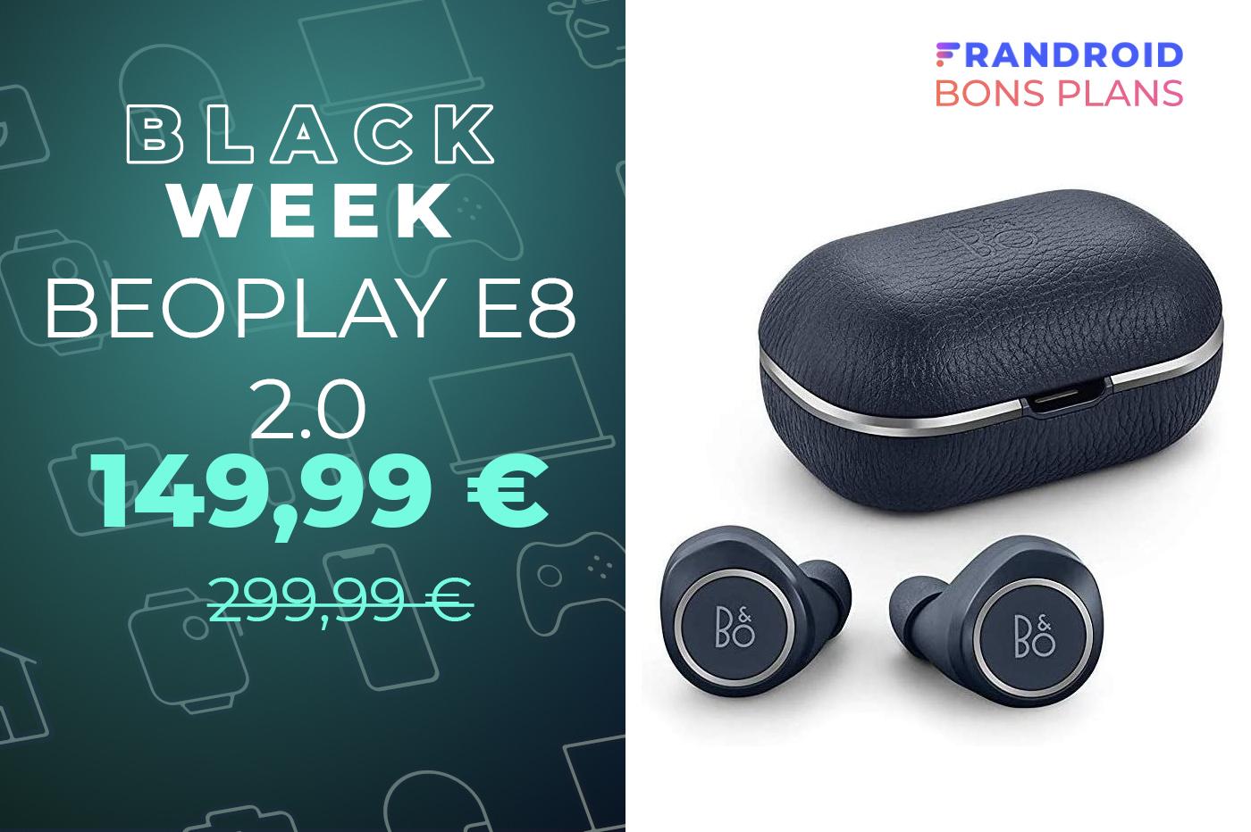 La qualité audio et le design Danois des B&O Beoplay E8 2.0 à -50 %