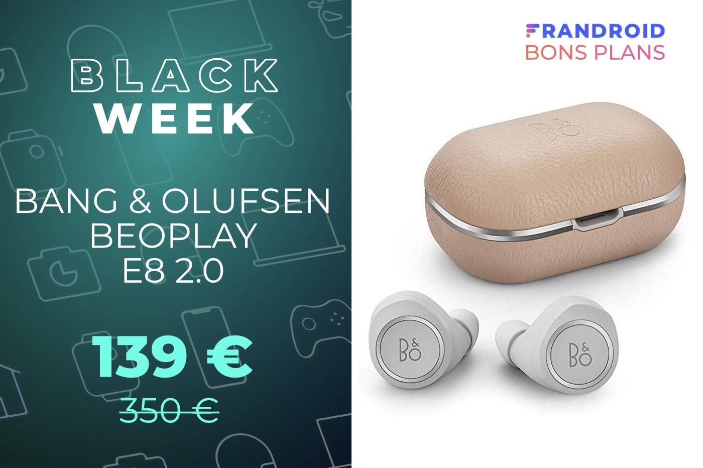 La qualité audio et le design Danois des B&O Beoplay E8 2.0 est à -60 % durant le Black Friday