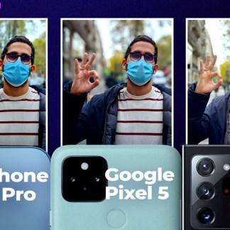 iPhone 12 Pro vs Samsung Galaxy Note 20 Ultra vs Google Pixel 5: discover our photo comparison