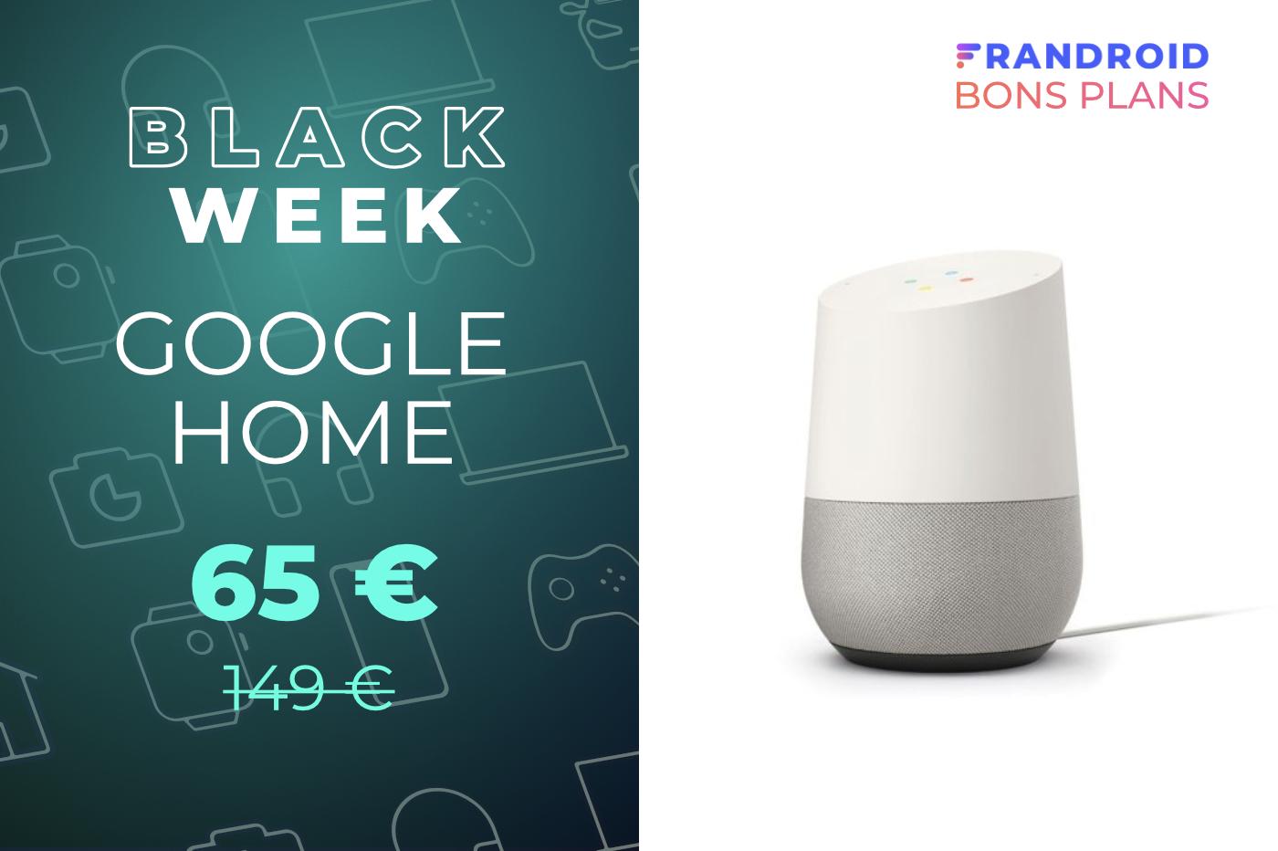 Google Assistant à la maison avec le Google Home à 65 euros au lieu de 149